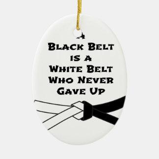 Zwarte band keramisch ovaal ornament