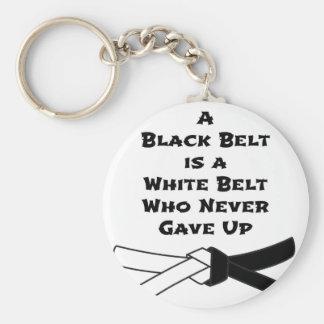 Zwarte band sleutelhanger