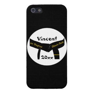 Zwarte band van de Graad van vechtsporten het 1st iPhone 5 Hoesje