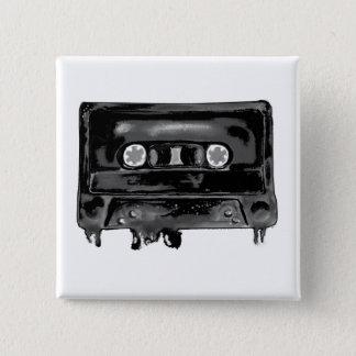 Zwarte Band Vierkante Button 5,1 Cm