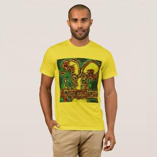 Zwarte beatlest-shirt t shirt