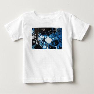 Zwarte & Blauwe Bellen Baby T Shirts