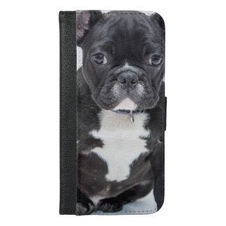 Zwarte Buldog iPhone 6/6s Plus Portemonnee Hoesje