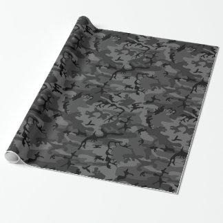 Zwarte Camo Cadeaupapier