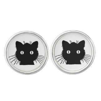Zwarte Cufflinks van de Kat Manchetknopen