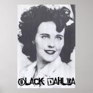 Zwarte Dahlia Poster