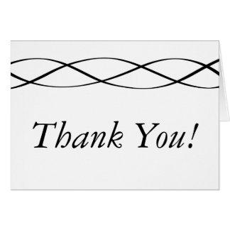 Zwarte de douane & het Wit danken u kaarden Briefkaarten 0
