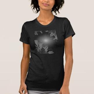 Zwarte de Poinsettia van Kerstmis en Grijs VII Tshirt