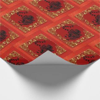 Zwarte Dierlijke Rood van de Dierenriem van de Inpakpapier
