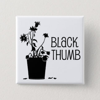 Zwarte Duim Vierkante Button 5,1 Cm