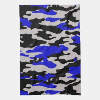 Zwarte en Blauwe Camo Theedoek