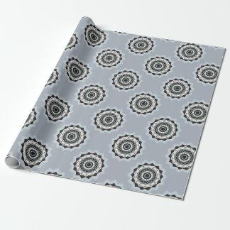 Zwarte en Blauwe Mandala Inpakpapier