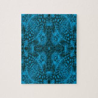 Zwarte en Blauwe Puzzel met de Doos van de Gift Foto Puzzels