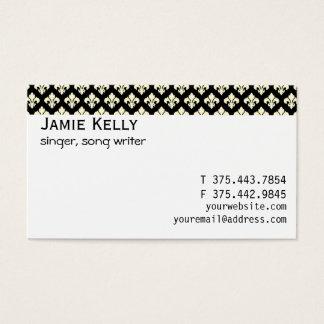 Zwarte en cream fleur DE lis Visitekaartjes
