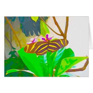 Zwarte en Gele Gestreept van de vlinder Briefkaarten 0