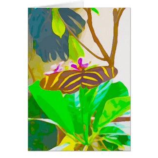 Zwarte en Gele Gestreept van de vlinder Kaart