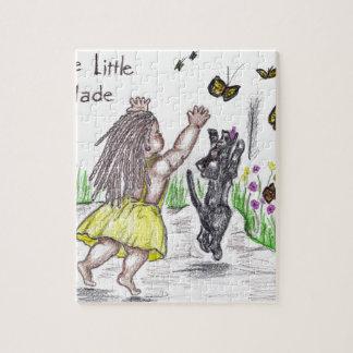 Zwarte en Gele vlinder Puzzel