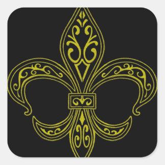 Zwarte en Gold Fleur DE Lis Sticker