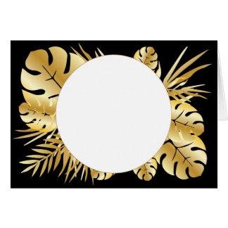 Zwarte en gouden elegante tropische kaart
