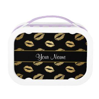 Zwarte en Gouden Kussen Lunchbox