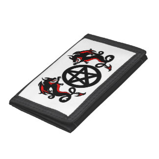 Zwarte en Rode Draken met Heidense Pentacle