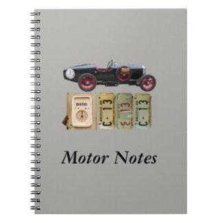 Zwarte en Rode Vintage Auto Notitieboek