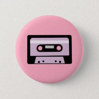 Zwarte en Roze Cassette Ronde Button 5,7 Cm