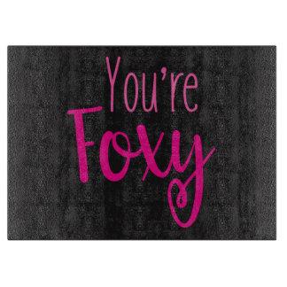 Zwarte en Roze Foxy Snijplank