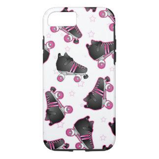 Zwarte en Roze Rolschaats en Ster - Derby iPhone 7 Hoesje