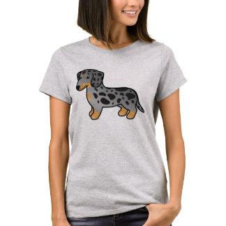 Zwarte en Tan Tekkel van de Laag van de Vlek de T Shirt