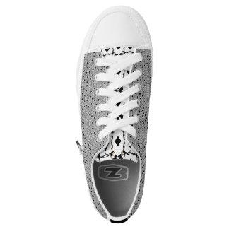 Zwarte en Wit! Laag Topje Low Top Schoenen