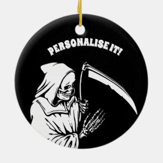 zwarte Fdood Rond Keramisch Ornament