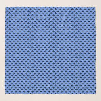Zwarte fleur-DE-Lis op het Blauw van de Korenbloem Sjaal