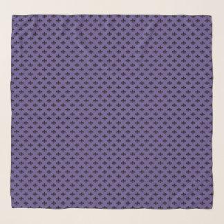 Zwarte fleur-DE-Lis op Paarse Ultraviolet Sjaal