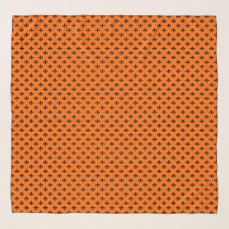 Zwarte fleur-DE-Lis op Sinaasappel Sjaal