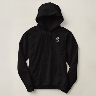 Zwarte Geborduurd Wit van Hoodie w ben ik het Logo