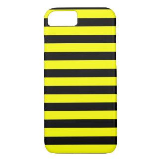 Zwarte Gele horizontale iPhone 7 van de Streep iPhone 8/7 Hoesje