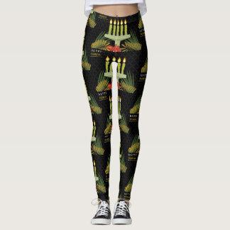 zwarte gelukkige kwanzaabeenkappen leggings