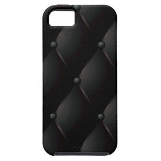 """Zwarte Gewatteerde Faux """"Leer """" Case-Mate iPhone 5 Hoesjes"""