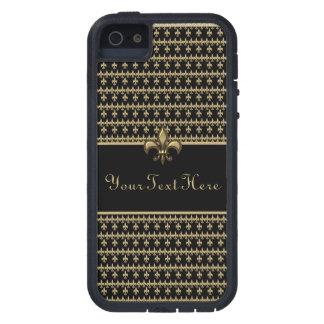 Zwarte Gold Fleur DE Lis Tough Xtreme iPhone 5 Hoesje