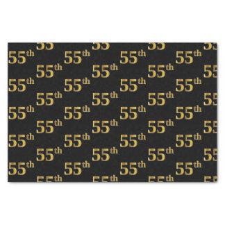 Zwarte, Gouden 55ste (vijftig-Vijfde) Gebeurtenis Tissuepapier