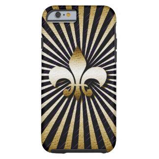Zwarte & Gouden fleur-DE-Lis I Telefoon 6 Hoesje