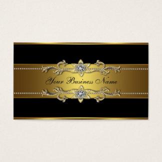 Zwarte Gouden Zwarte Visitekaartjes