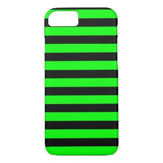 Zwarte Groene horizontale iPhone 7 van Strepen iPhone 7 Hoesje