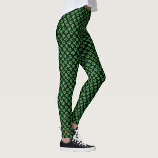 Zwarte Groene Ierse St Patricks van de Klaver van Leggings