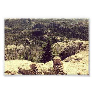 Zwarte Heuvels Foto Afdruk