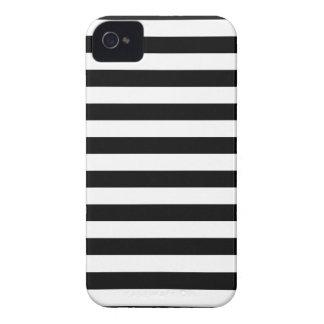 Zwarte Horizontale Strepen iPhone 4 Hoesje
