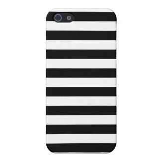 Zwarte Horizontale Strepen iPhone 5 Cover