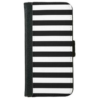 Zwarte Horizontale Strepen iPhone 5 Portefeuille Hoesje