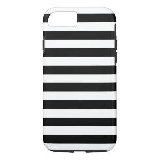 Zwarte Horizontale Strepen iPhone 8/7 Hoesje
